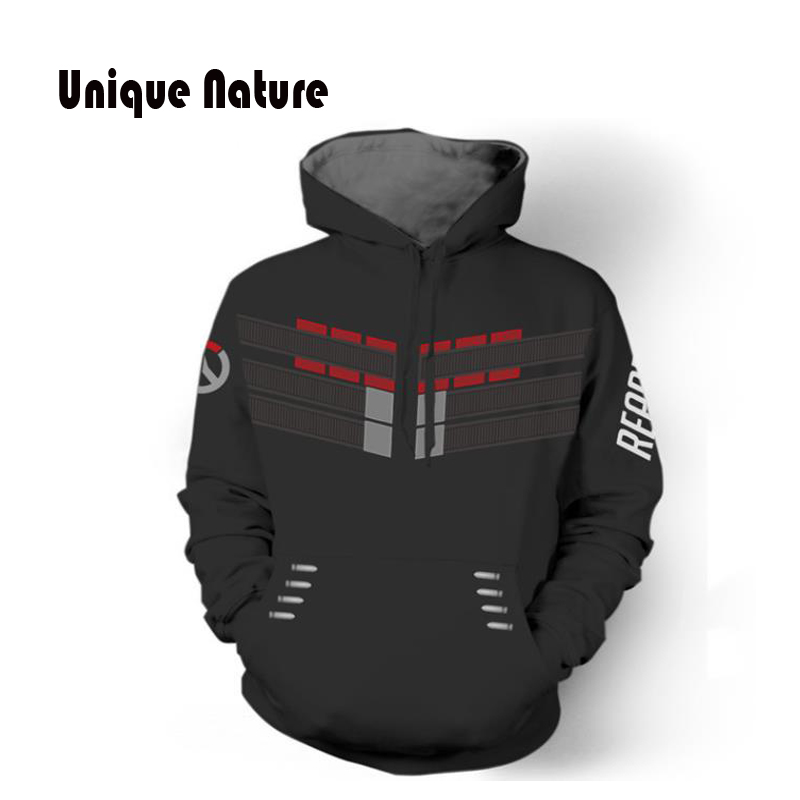 Unique Nature 2018 Fashion Style Hoodies Mens Womens Hooded Sweatshirts Long Sleeve Pullover with Hat Cartoon Print Jackets in Hoodies amp Sweatshirts from Men 39 s Clothing