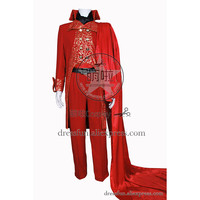 The Phantom Of The Opera Cosplay Erik Costume Full Set New Red Uniform Outfits Suit Halloween Fashion Party Fast Shipping
