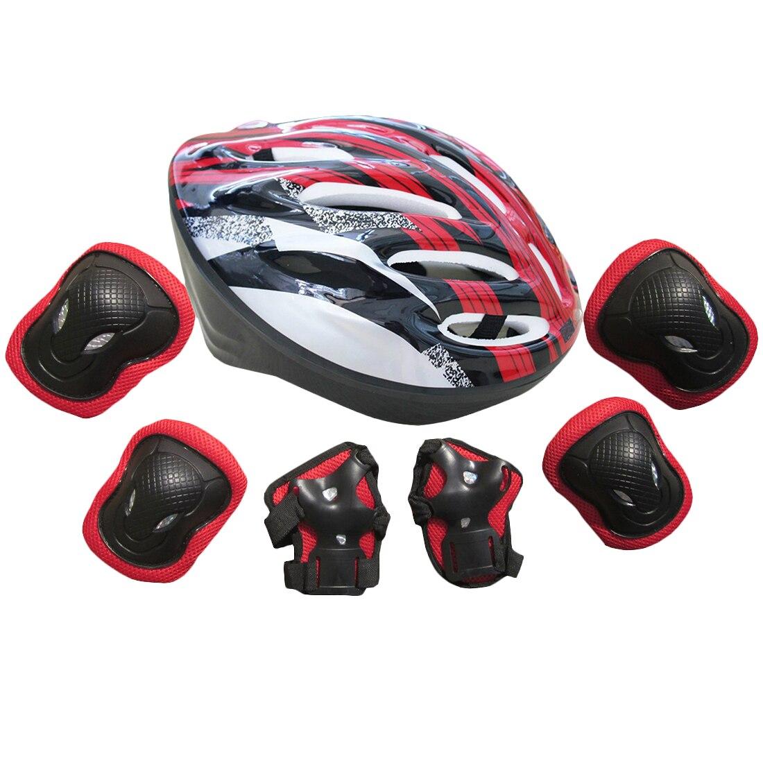 Roller skates helmet - 7pcs Adult Roller Skates Skateboard Skating Set Elbow Protector Knee Pads Cycling Helmet Sport Safety