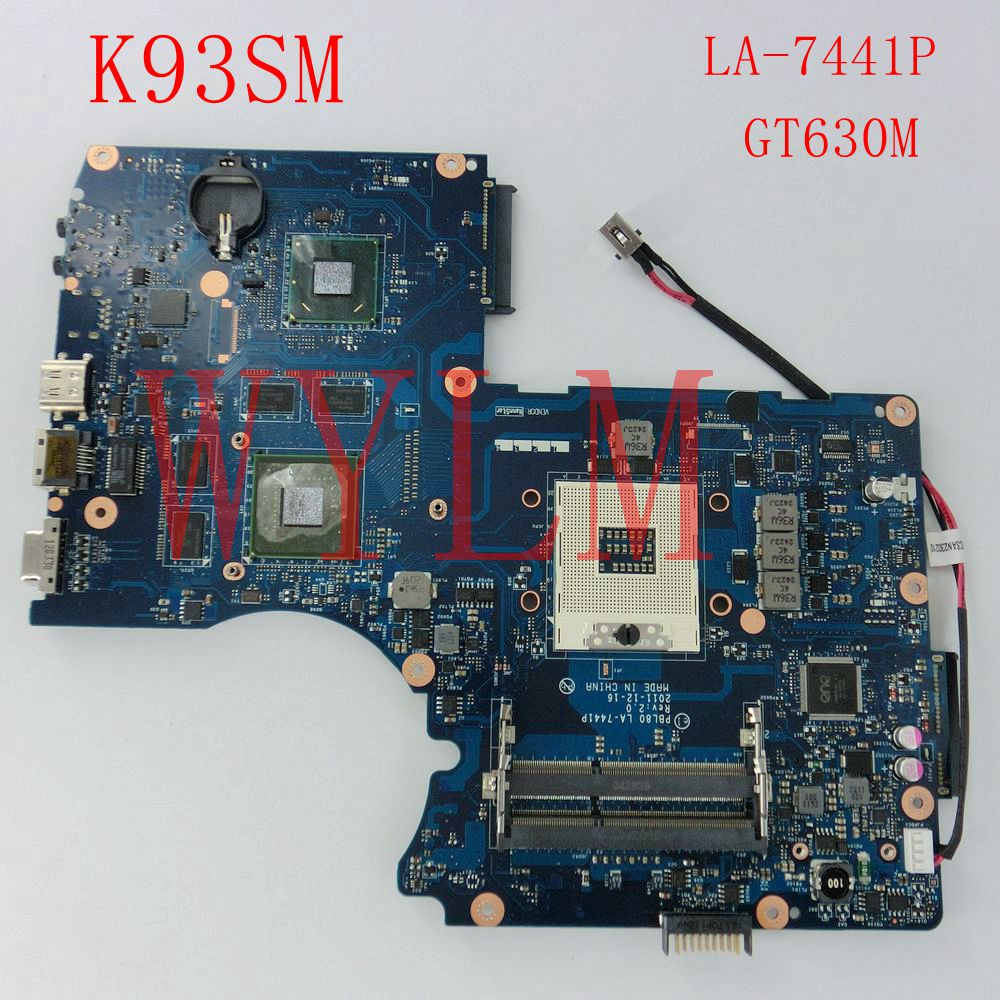 free shipping K93SM GT630M 1GB USB3.0 mainboard For ASUS LA-7441P K93SM X93S X93SM K93SV Laptop motherboard 100% Tested Working for asus laptop mainboard a43s x43s k43sj a43sv k43sv k43sm series motherboard gt630m 1gb d radr3