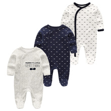 2020 Summer New Style Long Sleeved Girls Baby Romper Cotton 3Pcs/sets Newborn Body Suit Baby Pajama Boys Animal Monkey Rompers