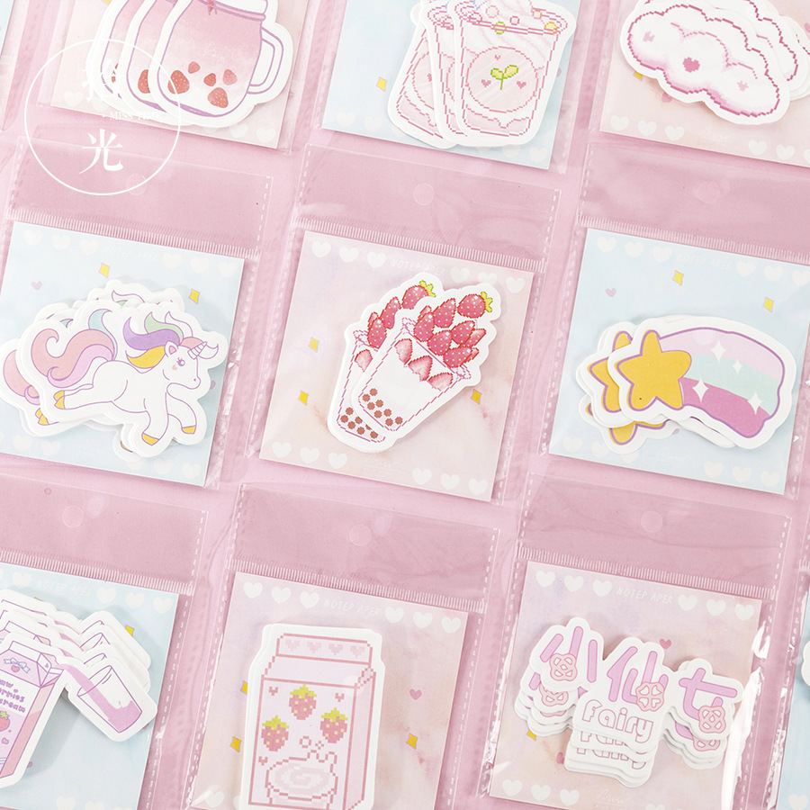 30Pcs/Lot Cute Girls Generation Series Planner Sticky Notes Memo Pad Sticky Note Non-Adhesive Torn Pocket Book Collage