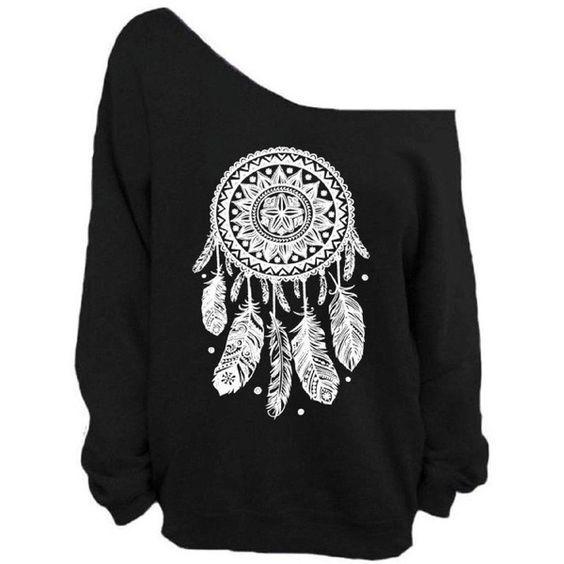 Elephant Print Black Sweatshirts