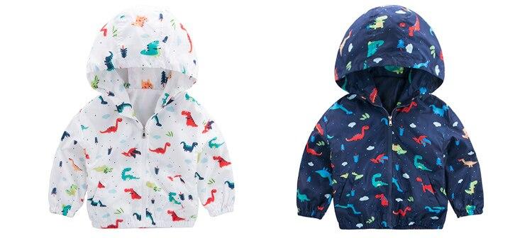 Bebê meninos jaqueta bonito dinossauro crianças casacos