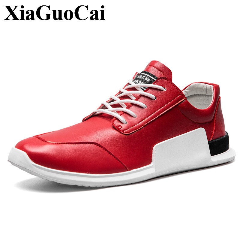 New  Fashion Casual Shoes Men Lace-up Sneakers High Quality Wear-resistant Light Red White Flats Shoes Soft Breathable H669 gram epos men casual shoes top quality men high top shoes fashion breathable hip hop shoes men red black white chaussure hommre
