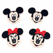 Cartoon Kids Mickey Minnie girls boys Lovely Embroidered Patch Iron on Sewing on Applique Clothes Shoes Bags DIY fabric Patches(China)