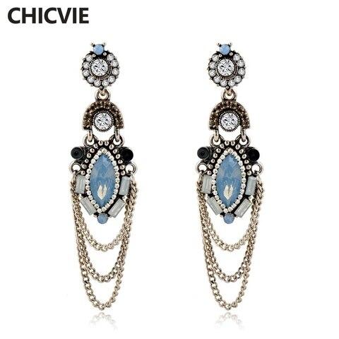 Chicvie длинные серебряные висячие серьги с кисточками для женщин