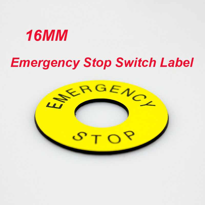 20pcslot 16mm Emergency Stop Switch Label Double Color For