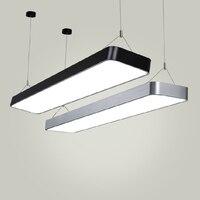 Современный офисный свет подвесные светильники просто светодиодный офисные длинные полосы Алюминий прямоугольный коммерческих освещение