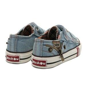 Image 3 - أحذية قماشية للأطفال 2020 أكثر مبيعاً أحذية رياضية للربيع قابلة للتنفس أحذية رياضية للأولاد أحذية أطفال أصلية للبنات جينز مسطح للطالبات من الدنيم