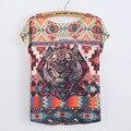 O Preço mais baixo A Weatern Moda T Shirt Women 2016 Verão vestido Das Senhoras New Original T-shirt Impressão Plus Size Partes Superiores Das Senhoras Tees