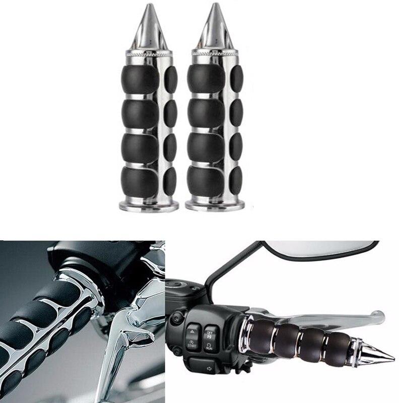 "1/"" MOTORCYCLE HANDLEBAR HAND GRIPS For Honda VTX 1300 C R S RETRO Yamaha V-star"