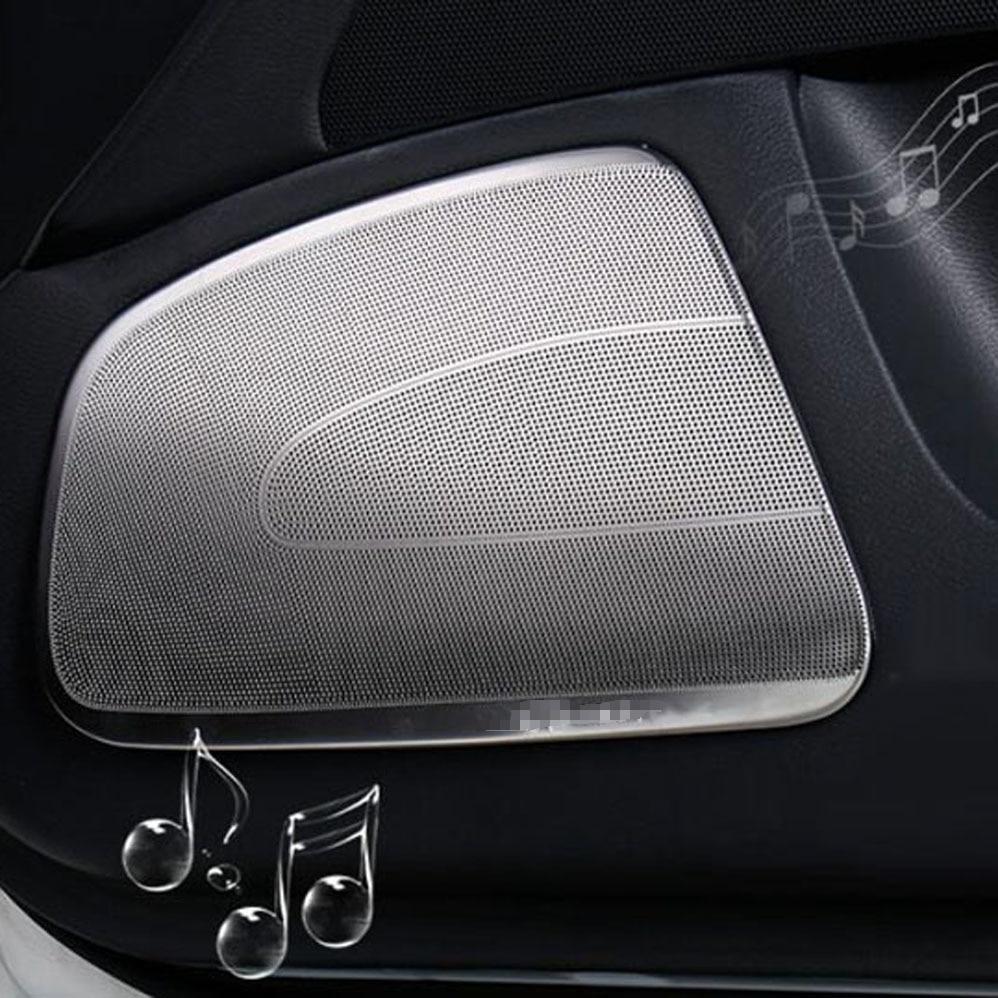 Front rear door A pillar speaker horn tweeter decorative cover sticker trim for Infiniti Q50 Q50L interior Accessories