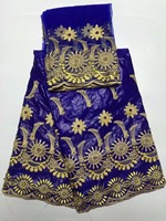Высокое качество ткани кружево приятно смотреть Африканский Базен Riche кружевной ткани популярны GESTER стиль для торжественное платье f1qz034