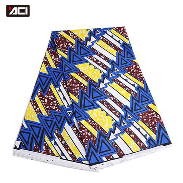 ACI Veritable Wax Hollandais African Ankara Fabric 6 Yards/Piece Veritable Super Wax Hollandais African Fabric Batik For Women 4