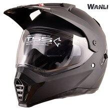 купить off road motorcycle helmet with sunshield Moto-Cross motocross helmet double lens racing moto DOT certificate дешево
