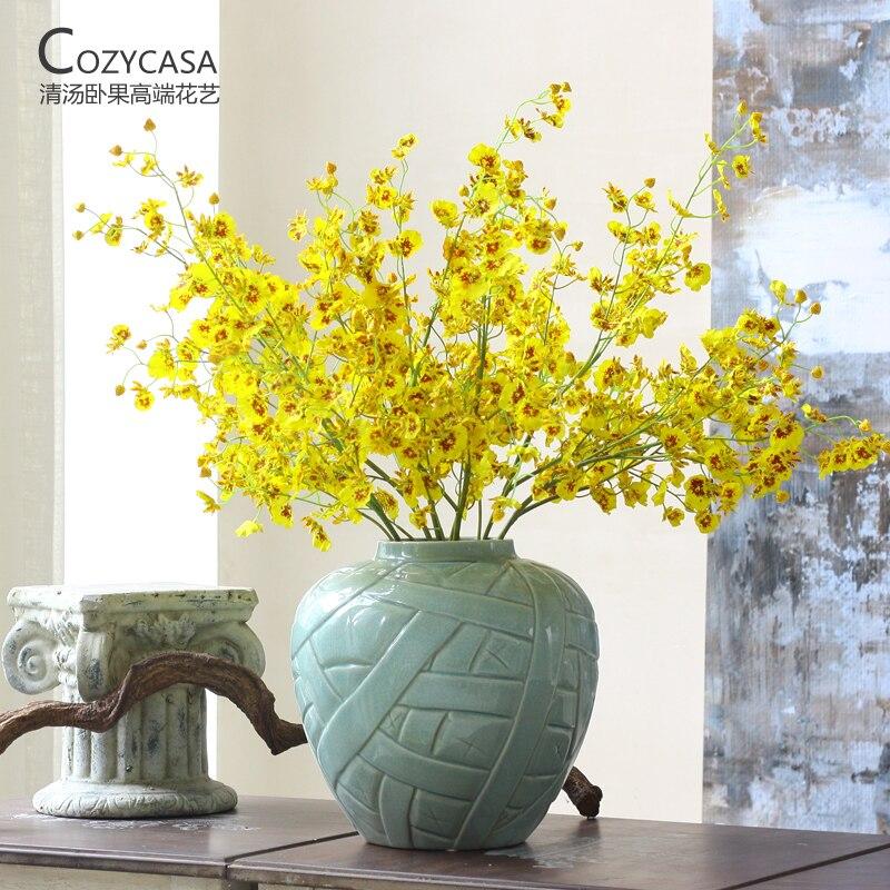 Soupe tropicale esthétique fleur artificielle wxdl odontoglossum fleur artificielle en plastique fleur décoration de la maison