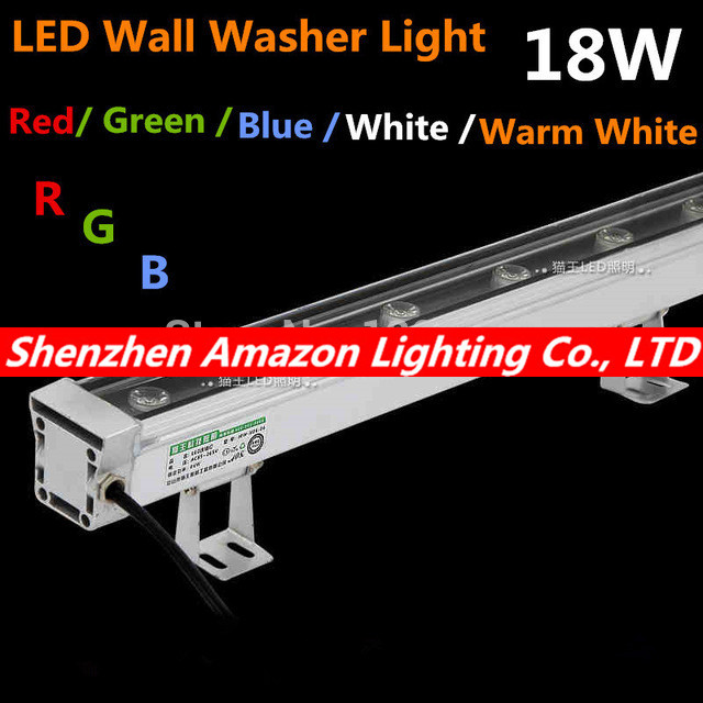 2pcs/lot Free Shipping AC85~265V High-power led 18W LED Wall Washer Light Led flood light waterproof led lamp 1000*46*46mm fedex free shipping lamp 2pcs lot led tunnel light 30w 60w 100w 120w led flood light 3030 high bay light high power super bright