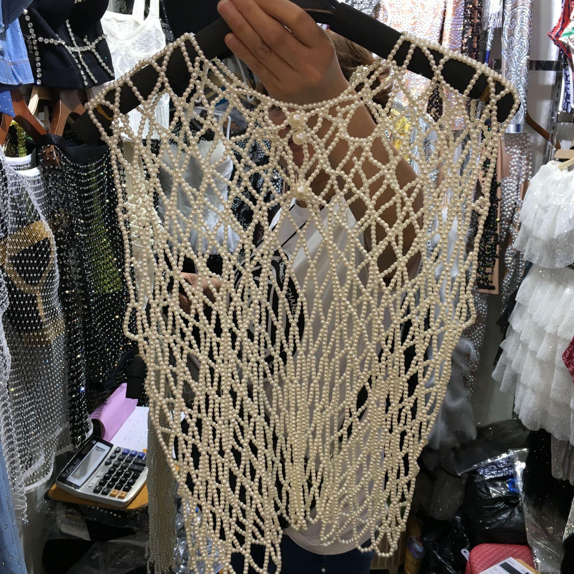 2019 printemps été perle gilet rétro palais style design perlé corset court gilet H49