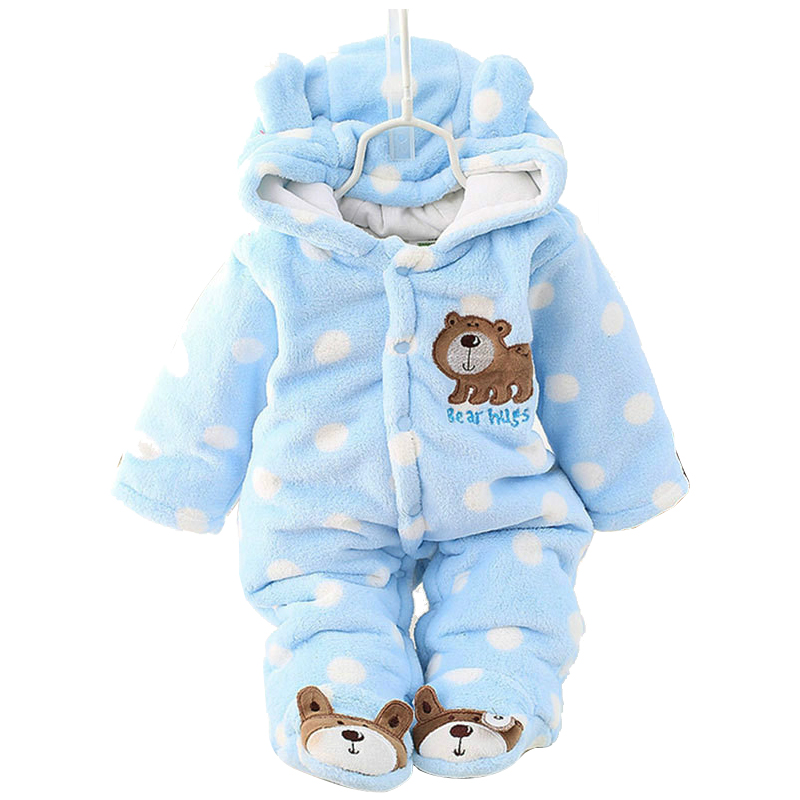 Winter Infant Clothes Children Clothing Set Cartoon Soft Cotton Warm Thick Baby Boys Girls Clothes Suit Newborn Outfits Rompers