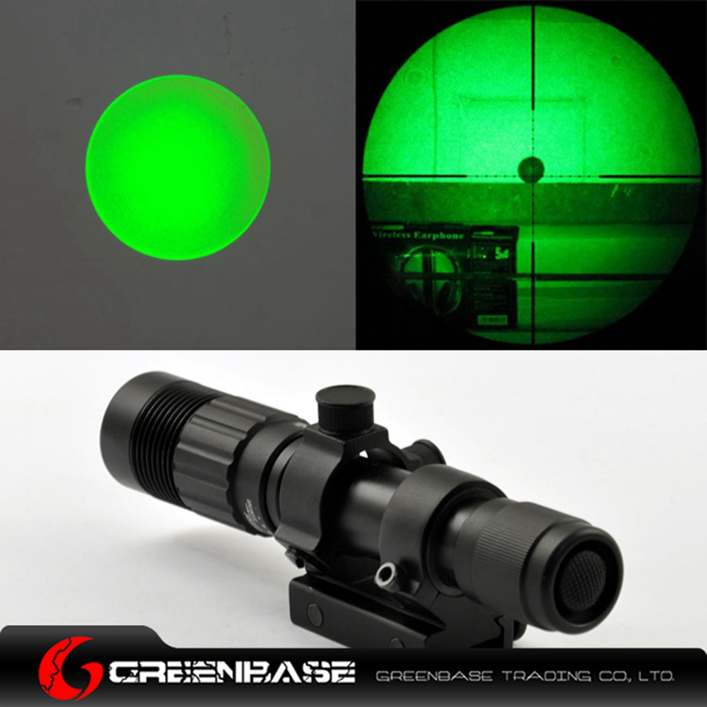 Greenbase 532nm Tactical 2 in 1 Green Laser Scope Green Light Zoom In Out LED Flashlight High Select For Night Hunting greenbase dbal pl 400 lumen led flashlight tactical strobe red laser ir light ir laser for tactical rifles hunting weaponlight
