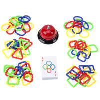 بطاقة ملونة حلقة مشبك لغز لعبة طفل لغز باليد على الدماغ لعبة للأطفال هدايا لل الوالدين والطفل لعبة التعلم التفاعلي