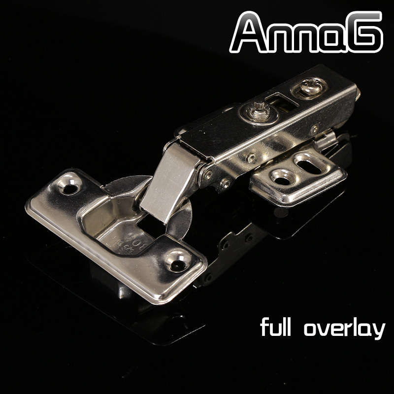 Full overlay Stainless steel cup soft close cabinet hydraulic hinges kitchen door hinges brass 2pcs set stainless steel 90 degree self closing cabinet closet door hinges home roomfurniture hardware accessories supply