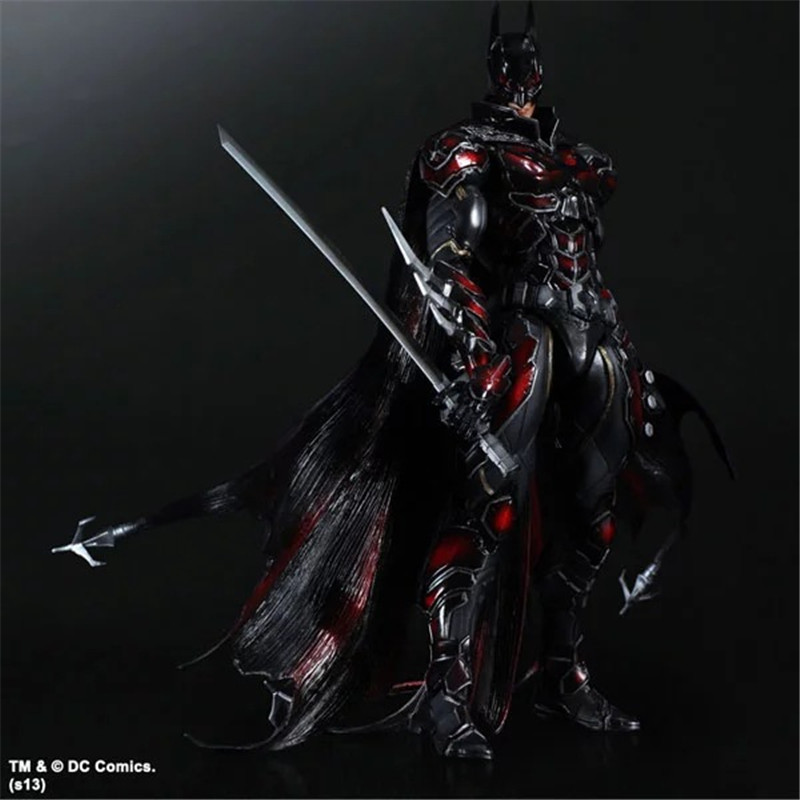 SQUARE ENIX PlayArts KAI DC COMICS NO.1 Batman Limited Color Ver. Brinquedos PVC Action Figure Collection Kids Toys Figuras 26cm playarts kai batman arkham knight batman blue limited ver brinquedos pvc action figure collectible model doll kids toys 28cm