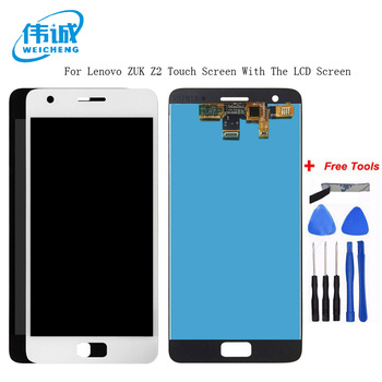 WEICHENG Top Quality For Lenovo ZUK Z2 LCD Display With Touch Screen Digitizer Assembly With frame Black And White Color