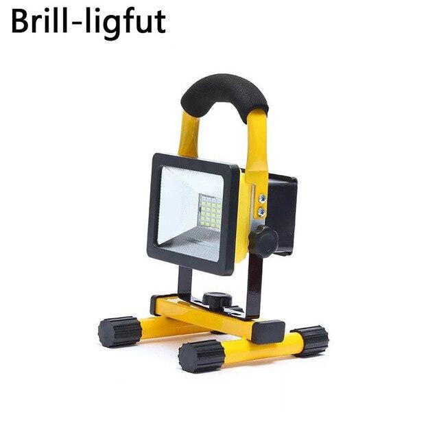 18650 перезаряжаемый светодиодный прожектор 30 W 24 светодиодный s Водонепроницаемый переносной прожектор Открытый Аварийный Рабочий светильн...