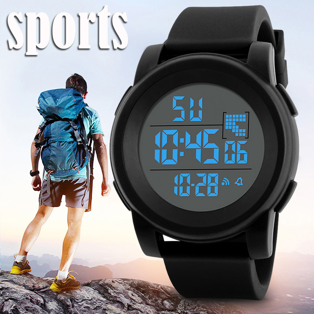 Mens Watch Led Digital Date Sports Army Males Quartz Watch Outdoor Electronics Men Clock For Sports Wristband Running Gift Watches