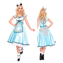 Classic Alice In the Wonderland Costume Adult Sexy Maid Women Halloween party Party Fancy Dress