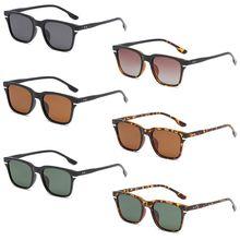 Fashion Men Women Retro Square Frame Polarized Eyeglasses Spectacles Eyewear Driving Mirror Versatile Sunglasses