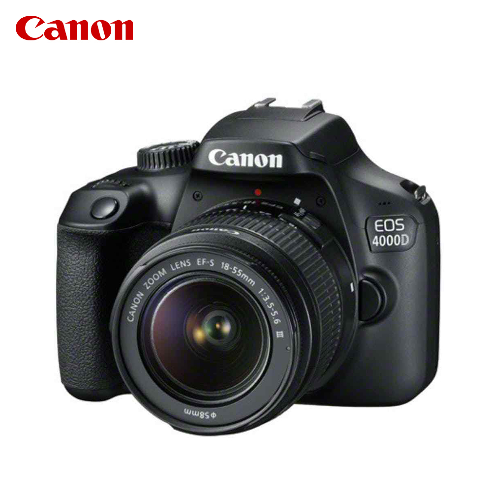 Appareils photo reflex Canon EOS 4000D + EF-S 18-55mm DC III Noir