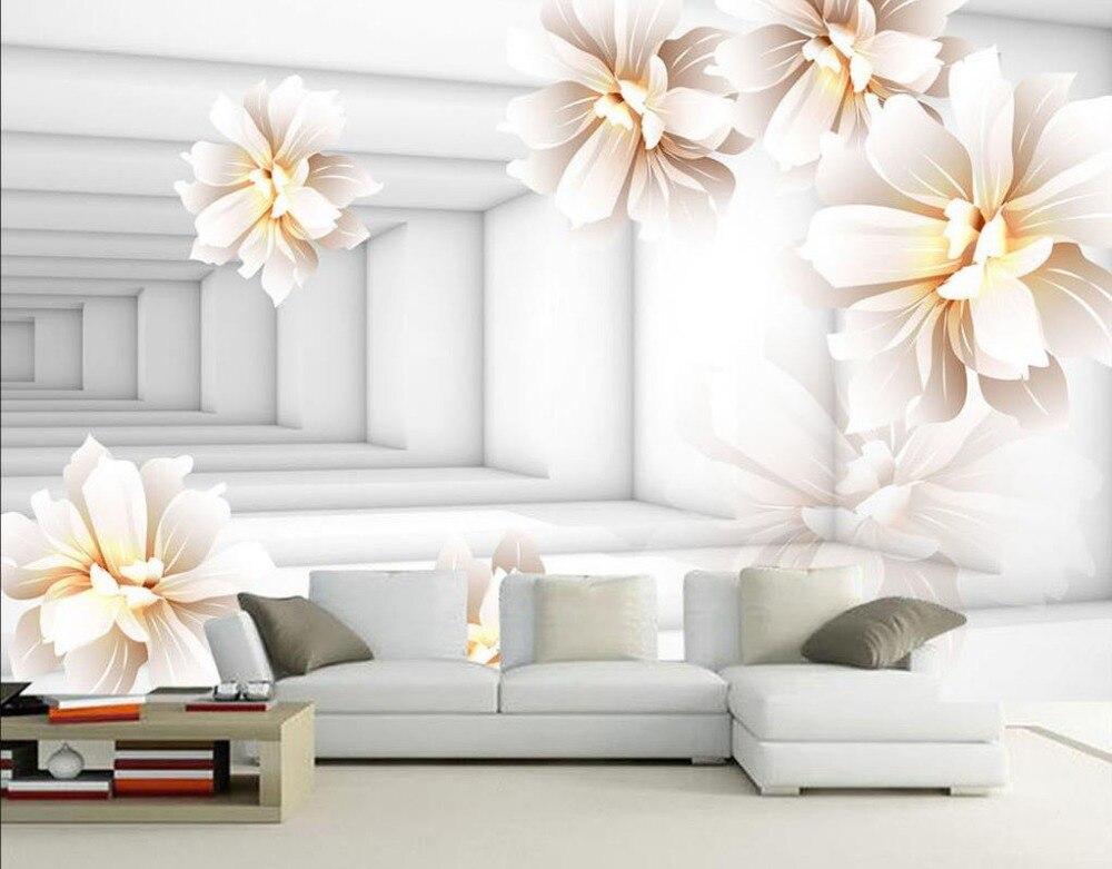wall decoration non woven wallpaper flower 3d wallpaper