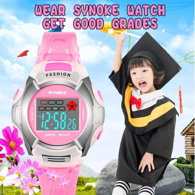 New Waterproof Children Watch Boys Girls LED Digital Sports Watches Plastic Kids Alarm Date Casual Watch Select Gift for kid #D