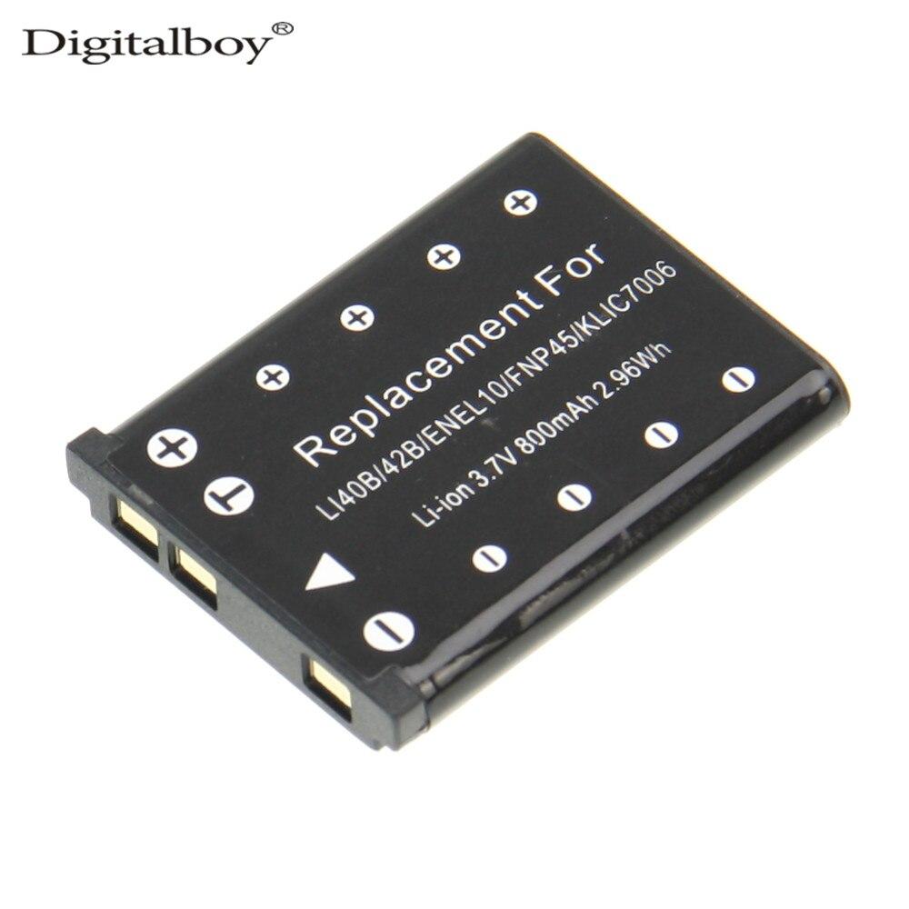 Baterias Digitais 1 pcs li-40b li40b en-el10 Capacidade : 800mah
