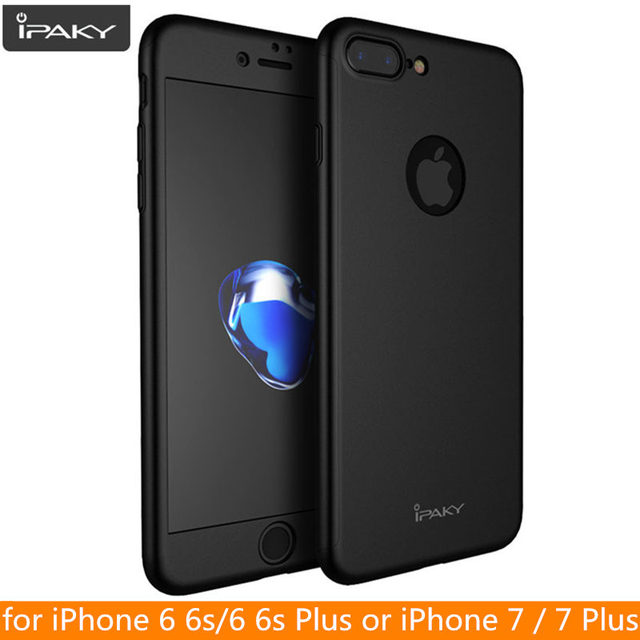 cheaper 4f593 5891d US $4.89 66% OFF|for iPhone 7 Case Original IPAKY Brand Full Cover Case for  iPhone 6 6s Plus Protective Full Body Cover for iPhone 8 8 Plus Case-in ...