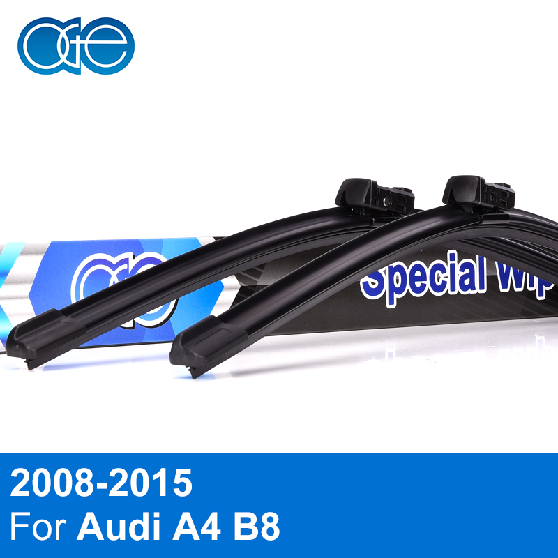 Oge 24''+20'' Wiper Blade For Audi A4 B8 2008 2009 2010 2011 2012 2013 2014 2015 2016 High Quality Rubber Car Accessories car led light for audi a4 b8 s4 a4 allroad 2008 2009 2010 2011 2012 2013 2014 2015 car styling led fog light fog lamp