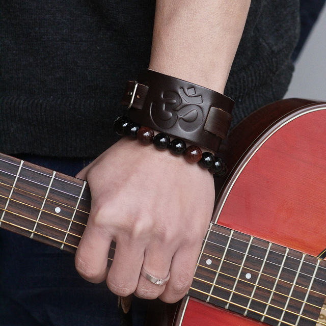 janeyacy новый модный коричневый черный кожаный браслет повседневный фотография