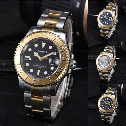 41mm parnis Black Blue Grey Dial Sapphire Crystal ceramic bezel Luminous Date 21 jewels Miyota Automatic Mechanical mens Watch41mm parnis Black Blue Grey Dial Sapphire Crystal ceramic bezel Luminous Date 21 jewels Miyota Automatic Mechanical mens Watch