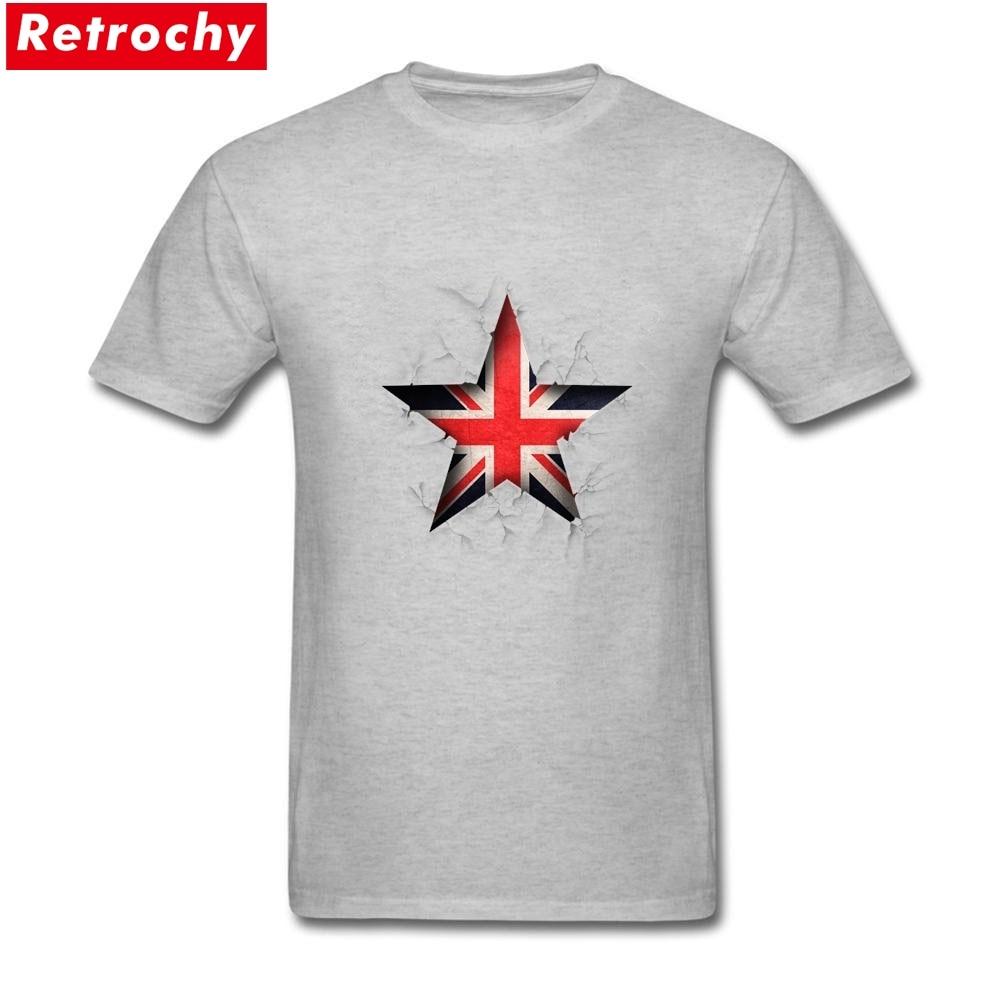 Fashion Men Grunge Flag British British T Shirt
