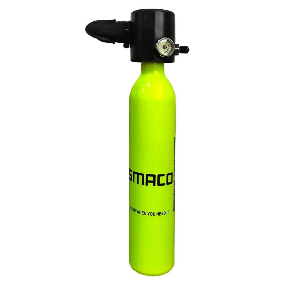 1 pièces 0.5L Mini équipement de plongée bouteille de plongée bouteille d'oxygène de plongée liberté respiration réservoir d'oxygène sous-marin Mini réservoir de plongée
