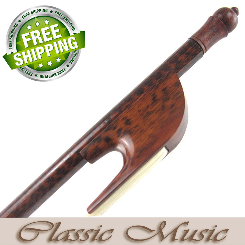 Snakewood Baroque Cello Bow with a Slim Tip (4/4), Good Mongolian Horse Hair. 2 pcs baroque double bass bow 3 4 snake