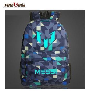 3463e70c9 Logotipo Messi bolsa Mochila de los hombres, los niños de viaje de  Barcelona Mochila bolsa de los adolescentes de la escuela los niños, regalo  de Mochila ...