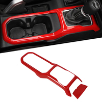 Car Interior Moulding for Jeep Wrangler JL 2018 ABS Gear Shift Cover Panel Decoration for Jeep JL Wrangler Accessories Red Color