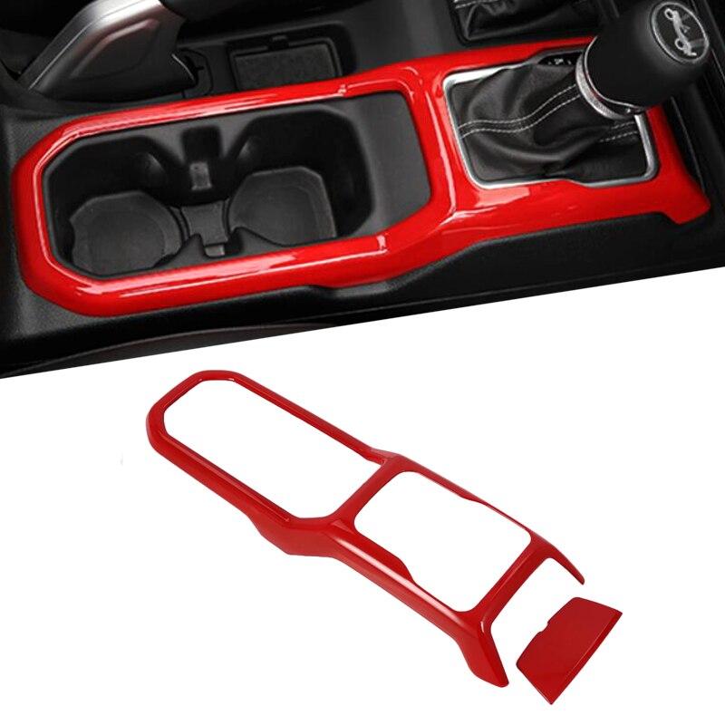 Moulage intérieur de voiture pour Jeep Wrangler JL 2018 ABS décoration de panneau de couverture de changement de vitesse pour Jeep JL Wrangler accessoires couleur rouge