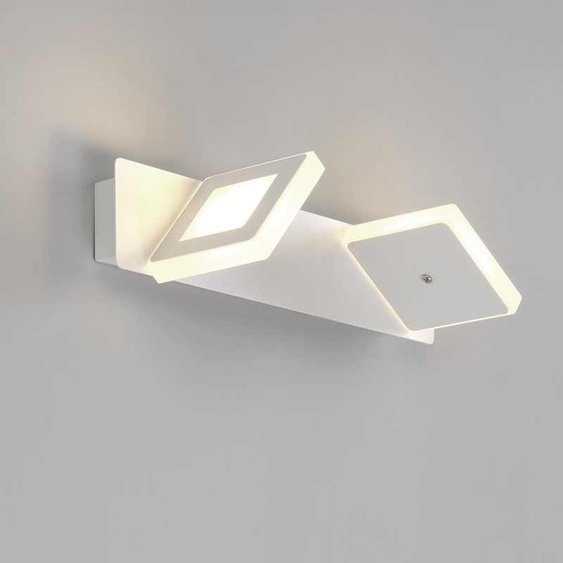 Modern Led Wall Lamps Sconce Nordic Kitchen Bathroom Mirror Led Lights For Home Decor Fixture luminaria White Iron Acrylic avize