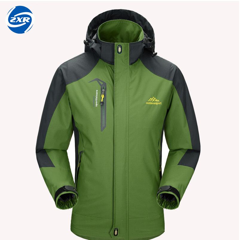 Zuoxiangru Outdoor Spring & Autumn S-2XL Men Waterproof Jacket Camping Hiking Jackets Hunting Climbing Windproof Fishing Sports