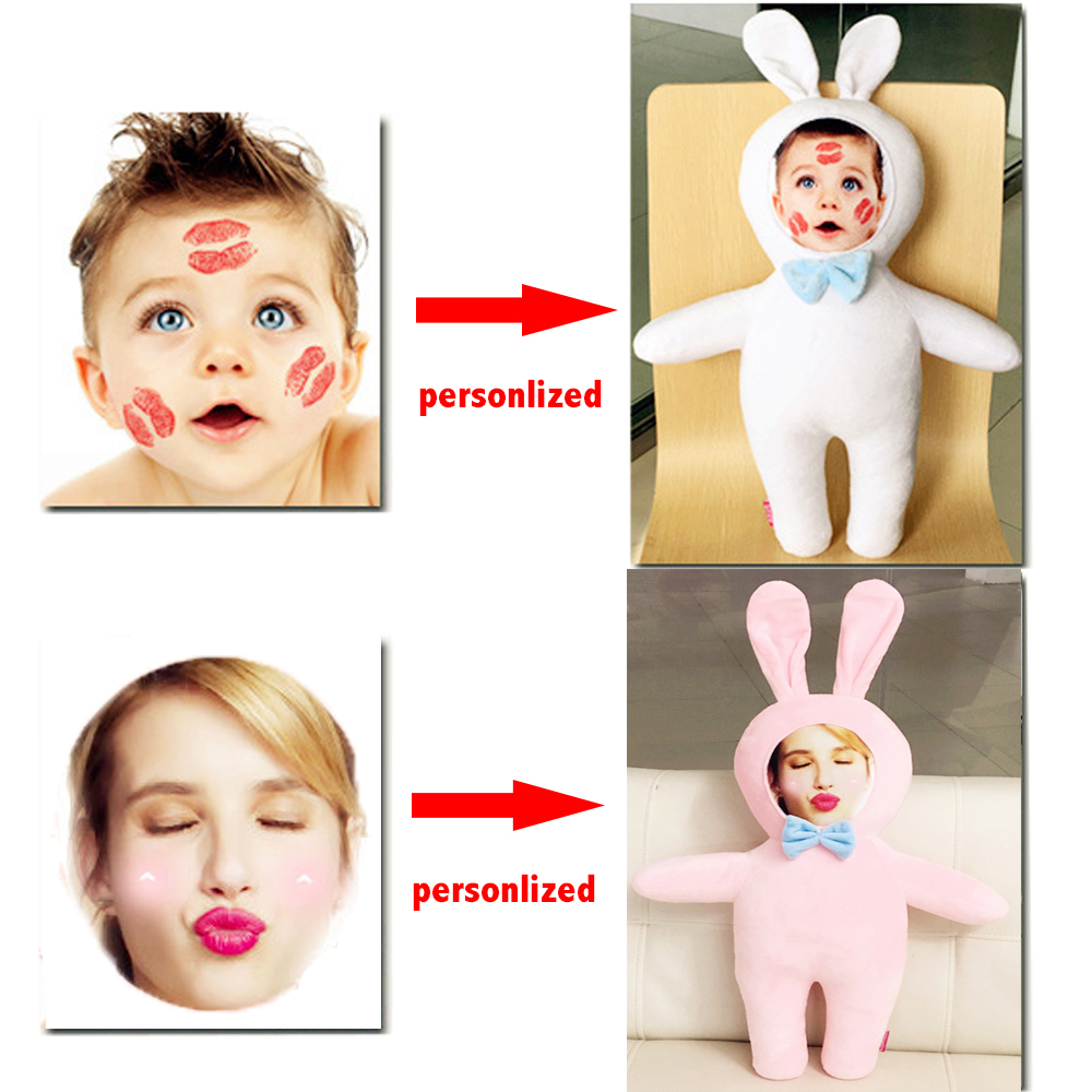 Face On Plush Toy Personalized Stuffed Toy Doll Best Customized Gift For Lover Girl Friend Kids Children 40 30cm gudetama lazy egg egg jun egg yolk brother large doll pillow lazy balls stuffed plush toy for children friend gift